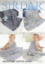 Sirdar Snuggly Baby Crofter Chunky - 4776  Blankets Knitting Pattern